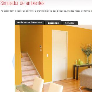 Pin simulador de cores ambientes externos on pinterest - Pinturas bruguer simulador de ambientes ...